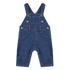 Absorba Fleece Denim Effect Dungarees