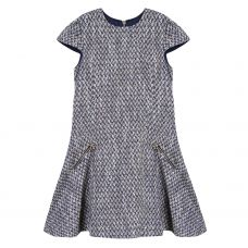 Tartine et Chocolat Blue & Gold Woollen Dress