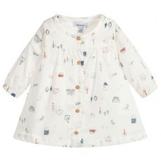 Absorba Baby Girls Ivory Cotton Dress