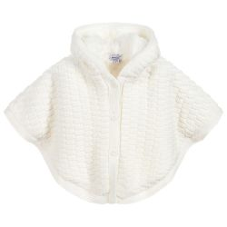 Absorba Baby Girl's Cream Knitted Cape