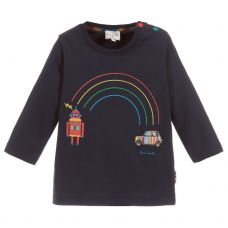 Paul Smith Junior Boys Blue Cotton 'Santo' T-Shirt
