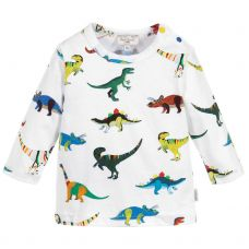 Paul Smith Junior Baby Boys White Dinosaur Pattern 'Saige' T-Shirt