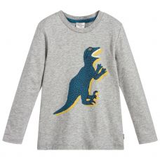 Paul Smith Junior Boys Grey Cotton Long Sleeve 'Shepard' T-Shirt