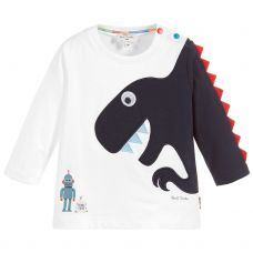 Paul Smith Junior Baby Boys White Cotton Long Sleeve 'Shay' T-Shirt