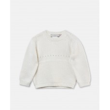 Stella McCartney Kids - Unisex 'Thumper' Ivory Jumper