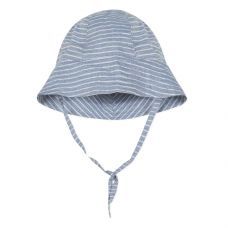 Absorba - Baby Boys Blue Striped Cotton Chambray Sun Hat