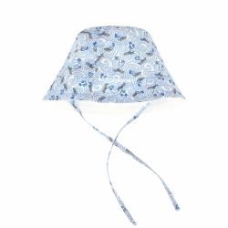 Absorba - Baby Boys White & Sky Blue Print Sun Hat