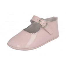 Andanines - Girls 'Charol' Pink Patent Leather Dress Pram Shoe