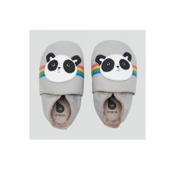Bobux - Unisex Grey 'Peace Panda' Soft Sole Shoes