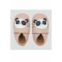 Bobux - Girls Pink 'Peace Panda' Soft Sole Shoes