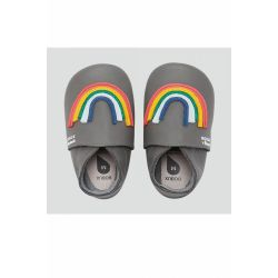 Bobux - Unisex Grey 'Imagine Rainbow' Soft Sole Shoes