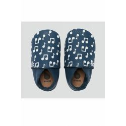 Bobux - Unisex Navy Blue 'Love Notes' Soft Sole Shoes
