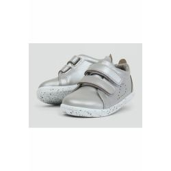 Bobux - Girls Silver 'Grass Court' Shoes