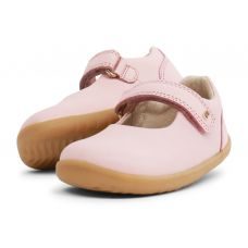Bobux - Baby Girls Seashell Pink 'Delight' Mary Jane Shoes