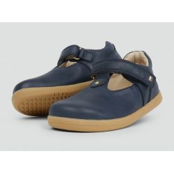 Bobux - Girls 'Louise' Navy Blue T.Bar Shoes