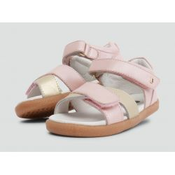 Bobux - Girls 'Sail' Blush & Gold Sandals