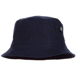 Tartine et Chocolat - Navy Blue Linen Hat