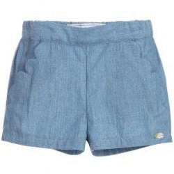 Tartine et Chocolat - Blue Chambray Shorts