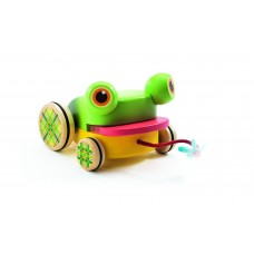 Djeco - Croafroggy Pull Along Wooden Toy