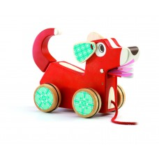 Djeco - Woofy Dog Pull Along Wooden Toy