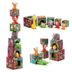 Djeco - 'Maxi Topanijungle' Blocks For Infants
