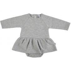 Mon Marcel - Baby Girls Grey 'Donna' Padded Cotton Body Dress
