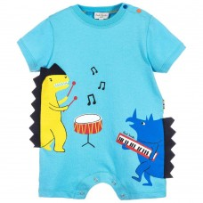 Paul Smith Junior - Baby Boys Blue 'Ray' Dinosaur Shortie
