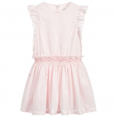 Tartine Et Chocolat - Pale pink cotton dress