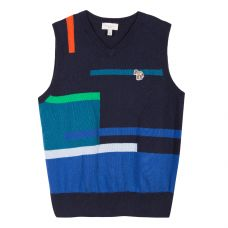 Paul Smith Junior Boys Navy Blue 'Soren' Gilet