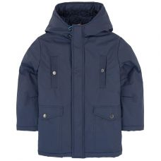 Paul Smith Junior Boys Navy Blue 'Swayer' Waterproof Parka