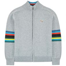 Paul Smith Junior Boys Heather Grey 'Selim' Zip Cardigan