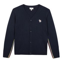 Paul Smith Junior - Boys navy Boys Cotton & Cashmere Knit 'Telo' Cardigan