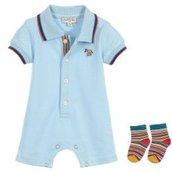 Paul Smith Junior - Baby Boys Cotton piqué 'Trenton' Shortie Gift Set