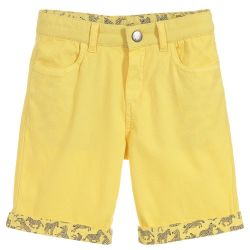 Paul Smith Junior - Boys Primrose Yellow Cotton 'Trick' Bermuda Shorts