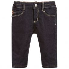 Paul Smith Junior Boys Navy Blue 'Segun' Denim Trousers