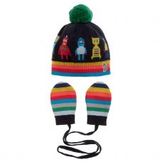 Paul Smith Junior Baby Boys 'Surro' Hat & Mittens Set