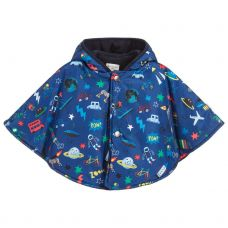 Paul Smith Junior Boys Blue 'Samba' Hooded Cape