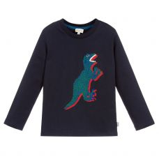 Paul Smith Junior Boys Navy Blue Cotton Long Sleeve 'Shepard' T-Shirt