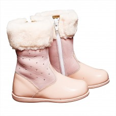 Andanines - Pink Patent Boots