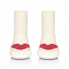 Moccis - Cream & Red Warm Heart