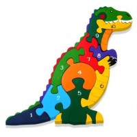 Alphabet Jigsaws - Number T-Rex