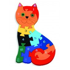 Alphabet Jigsaws - Number Cat