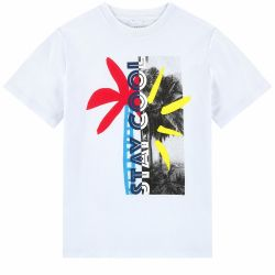 Stella McCartney Kids - Boys White 'Graphic' Organic Cotton T.Shirt