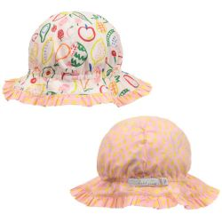 Stella McCartney Kids - Baby Girls Pale Pink & Print Reversible Sun Hat