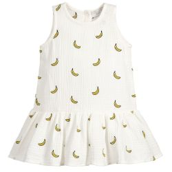 Stella McCartney Kids - Baby Girls Embroidered Banana Dress