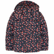Stella McCartney Kids - Girls Dark Navy Blue 'Holly' Ladybug Print Puffer Jacket