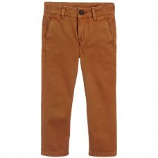 Stella McCartney Kids - Boys BrownCotton 'Fitz' Chino Trousers