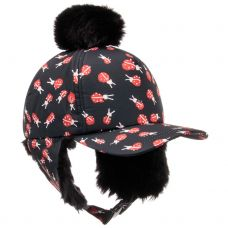 Stella McCartney Kids - Girls Black 'Bird' Ladybug Hat
