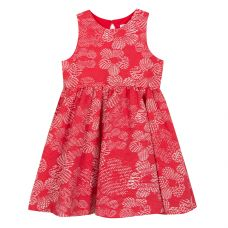 Tartine Et Chocolat - Redcurrant Leaf Print Jacquard Dress