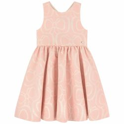 Tartine Et Chocolat - Old Pink  Jacquard Dress With Bow Detail